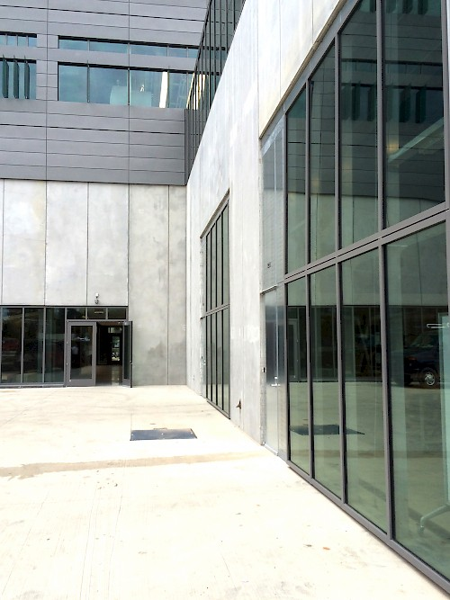 Click to enlarge & Oakland University Engineering Building - National Door Systems